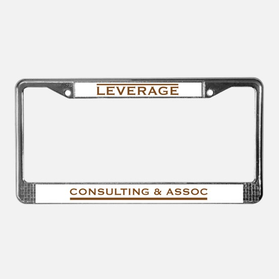 Leverage Consulting License Plate Frame
