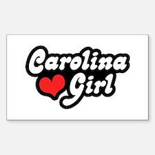 Carolina Girl Rectangle Decal