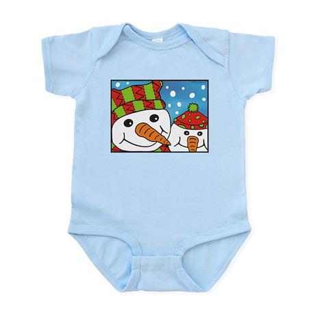 Cute Snowmen Infant Bodysuit