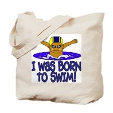 Born to Swim Ethan Tote Bag