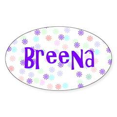 Breena Flower Power Oval Decal