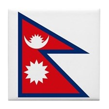 Nepal Flag Tile Coaster
