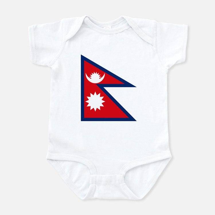 Nepal Flag Infant Creeper