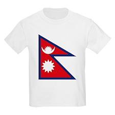 Nepal Flag Kids T-Shirt