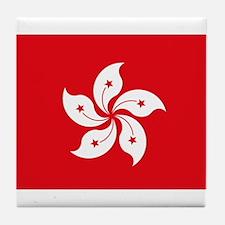 Hong Kong Flag Tile Coaster