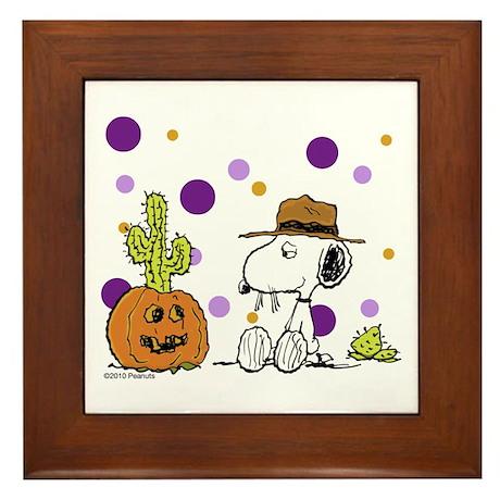 Spikey Halloween Framed Tile