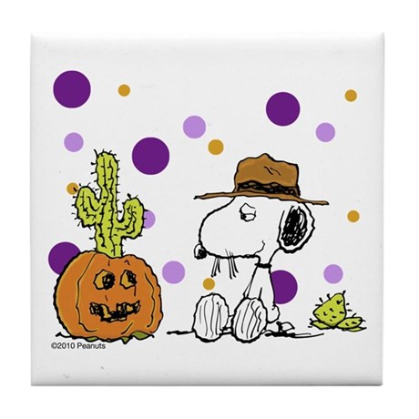 Spikey Halloween Tile Coaster