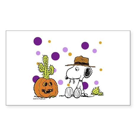 Spikey Halloween Sticker (Rectangle)