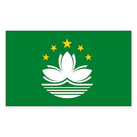 Macau Flag Rectangle Sticker