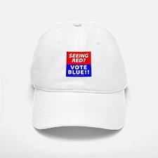 """Seeing Red"" Baseball Baseball Cap"
