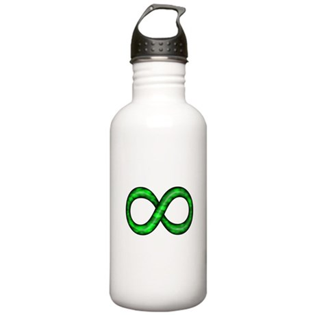 Green Infinity Symbol Stainless Water Bottle 1.0L