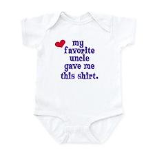My favorite uncle Infant Bodysuit