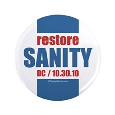 "Restore Sanity 3.5"" Button (100 pack)"