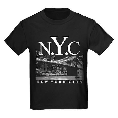 NYC New York City Skyline Kids Dark T-Shirt