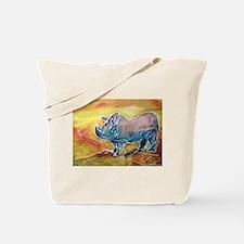 Bright, Rhino, Tote Bag