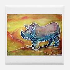 Bright, Rhino, Tile Coaster