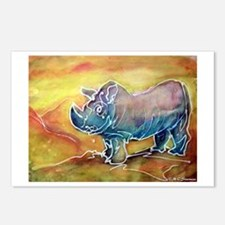 Bright, Rhino, Postcards (Package Of 8)