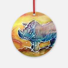 Bright, Rhino, Ornament (Round)