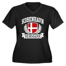 Kobenhavn Denmark Women's Plus Size V-Neck Dark T-
