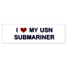 I Love my Sumbariner Bumper Car Sticker