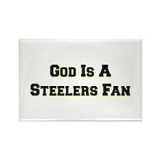 God Is A Steelers Fan Rectangle Magnet