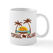 Topsail Island NC - Palm Trees Design Mug