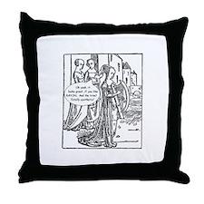 Medieval Mayhem - Gossip Throw Pillow