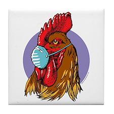 Bird Flu Free Tile Coaster