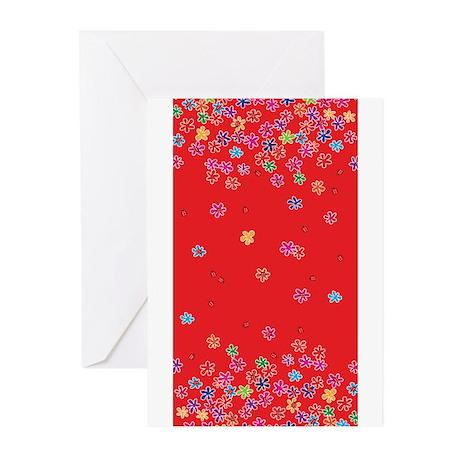 Ladybugs & Flowers Greeting Cards (Pk of 10)