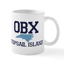 Topsail Island NC - Map Design Mug