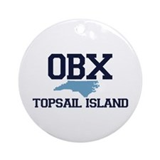 Topsail Island NC - Map Design Ornament (Round)
