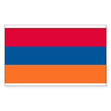 Armenian Flag Rectangle Decal