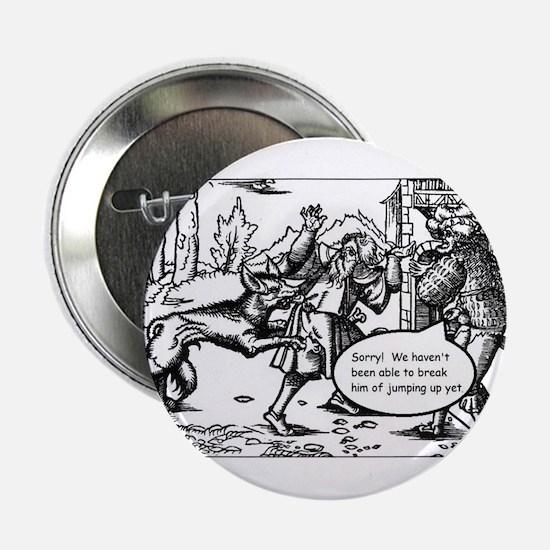 """Medieval Mayhem - Werewolf 2.25"""" Button"""