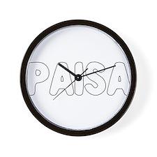 PAISA Wall Clock