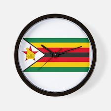 Zimbabwe Flag Wall Clock
