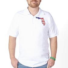 FL USA Flag Map 1 T-Shirt