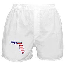 FL USA Flag Map 1 Boxer Shorts