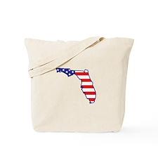 FL USA Flag Map 1 Tote Bag