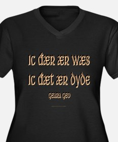 Been There, Done That Women's Plus Size V-Neck Dar
