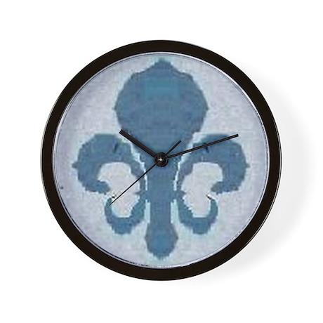 Fleur de lis wall clock by mrlake Fleur de lis wall