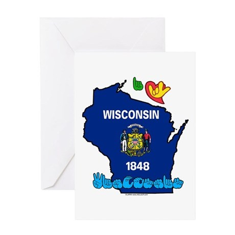 ILY Wisconsin Greeting Card