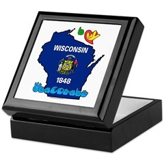 ILY Wisconsin Keepsake Box