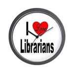 I Love Librarians Wall Clock