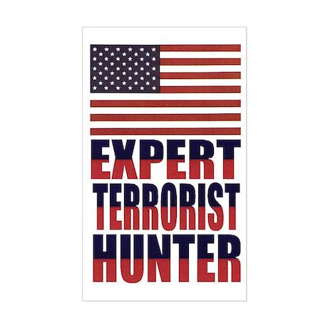 USA-EXPERT TERRORIST HUNTER Rectangle Sticker