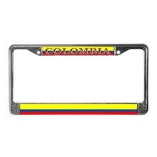 Colombia Colombian Blank Flag License Plate Frame