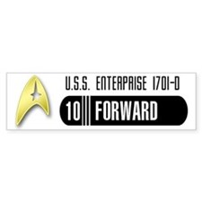 Star Trek 10-Forward Bumper Bumper Sticker