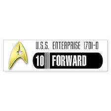 Star Trek 10-Forward Bumper Car Sticker