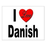 I Love Danish Small Poster