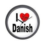 I Love Danish Wall Clock