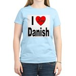 I Love Danish (Front) Women's Pink T-Shirt